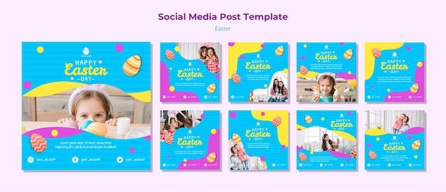 Ostern social media beitragsvorlage Kostenlosen PSD