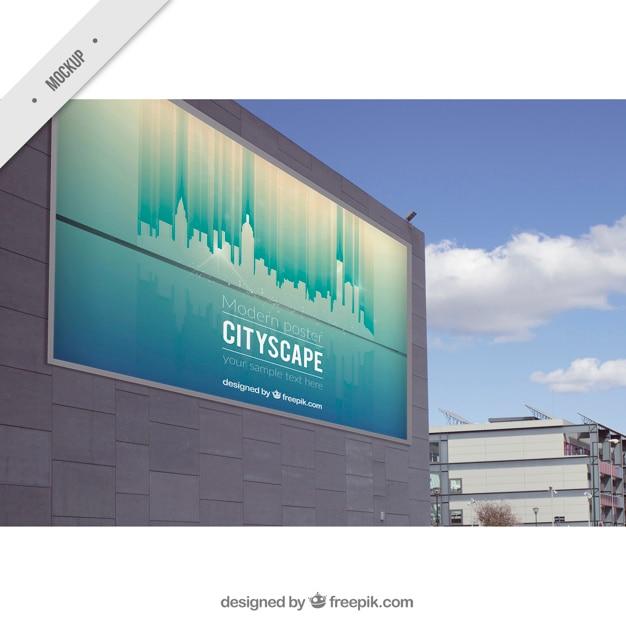 Outdoor-billboard von stadtbild Kostenlosen PSD