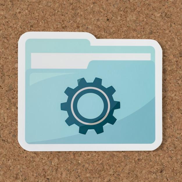 Papier ausgeschnitten einstellungen ordner-symbol Premium PSD