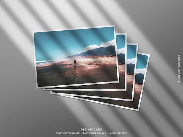 Papier-fotorahmen-modell mit schatten Premium PSD