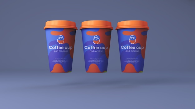 Papierkaffeetasse-modell psd Premium PSD