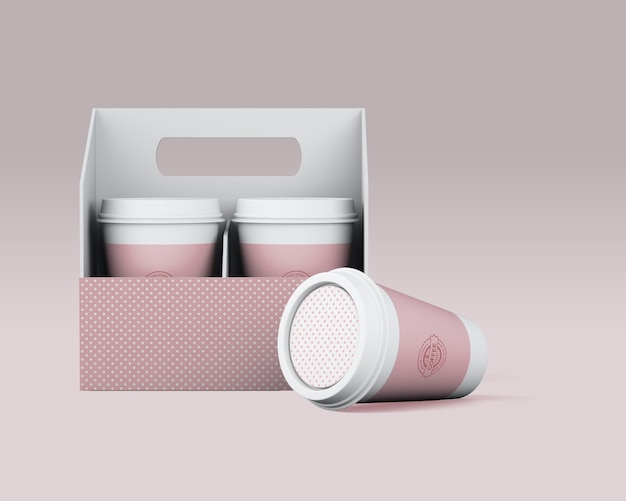 Papierkaffeetasse-modell Kostenlosen PSD