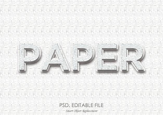 Papiertext-effekt-tiefenstil Premium PSD