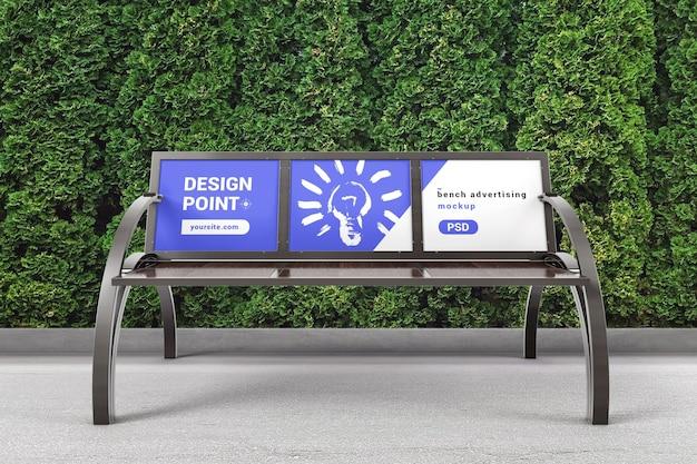 Parkbank mit werbeflächenmodell Premium PSD