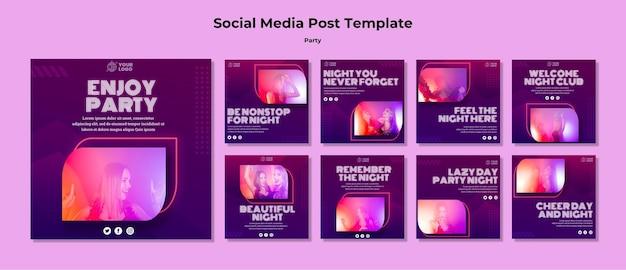 Party social media post vorlage Kostenlosen PSD