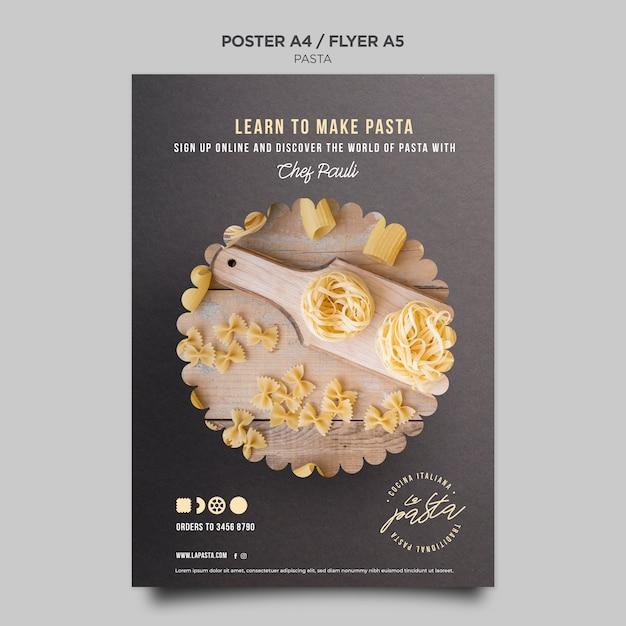 Pasta shop poster vorlage Kostenlosen PSD