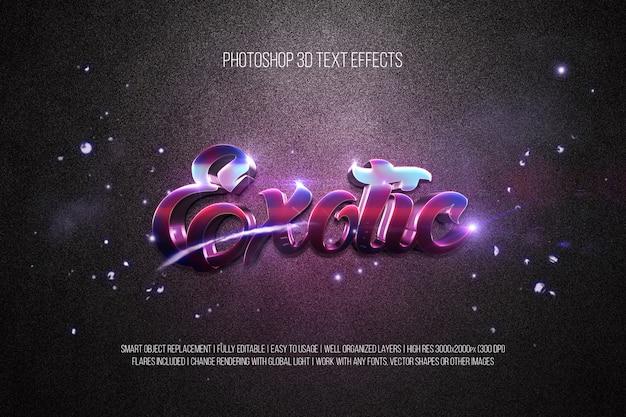 Photoshop 3d-texteffekte exotisch Premium PSD