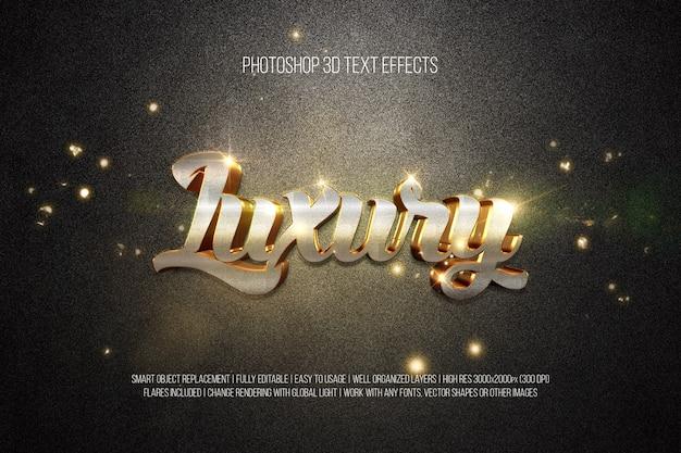 Photoshop 3d-texteffekte luxus Premium PSD