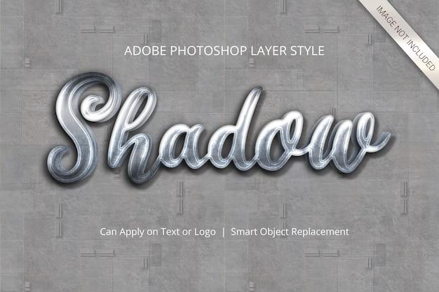 Photoshop-texteffekt-ebenenstil Premium PSD