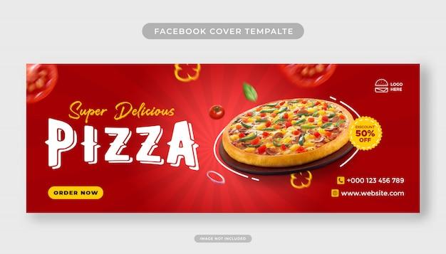 Pizza essen menü förderung facebook cover banner vorlage Premium PSD
