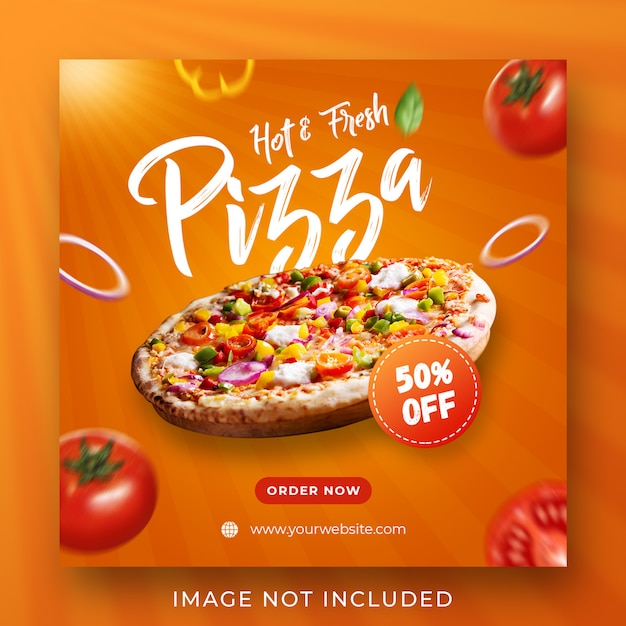 Pizza food menü promotion instagram post banner vorlage Premium PSD