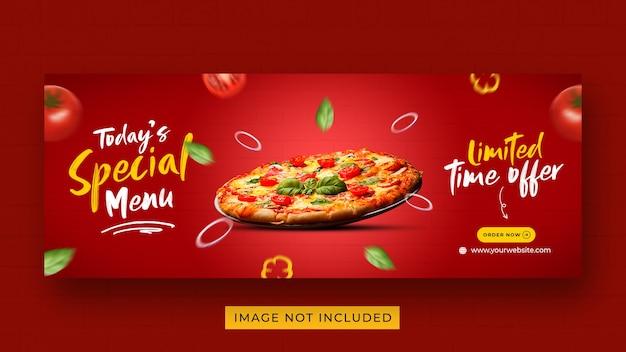 Pizza food menü promotion social media facebook cover banner vorlage Premium PSD
