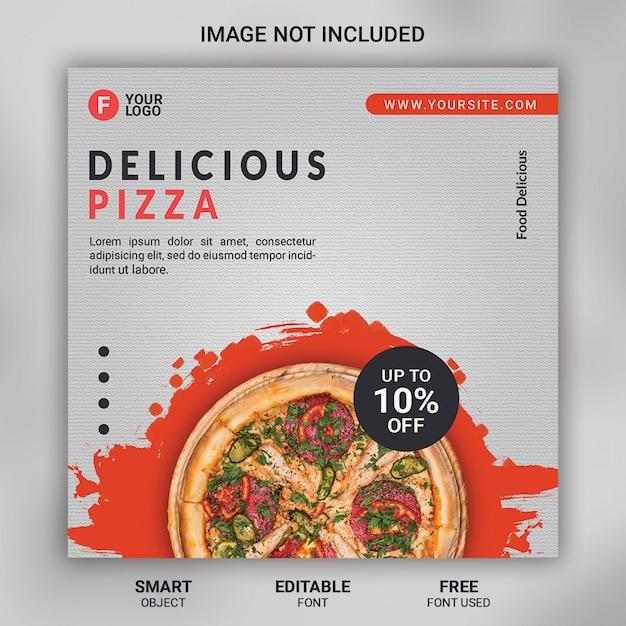 Pizza food promotion social media vorlage banner Premium PSD