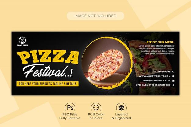 Pizza oder fast food facebook oder social media banner vorlage Premium PSD
