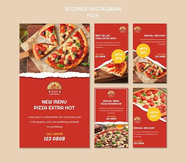 Pizza restaurant instagram geschichten vorlage Premium PSD