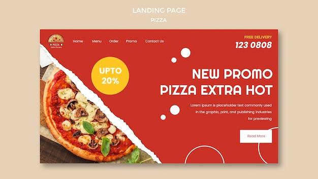 Pizza restaurant landingpage vorlage Premium PSD