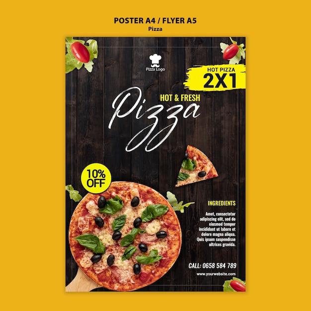 Pizza restaurant poster vorlage Kostenlosen PSD