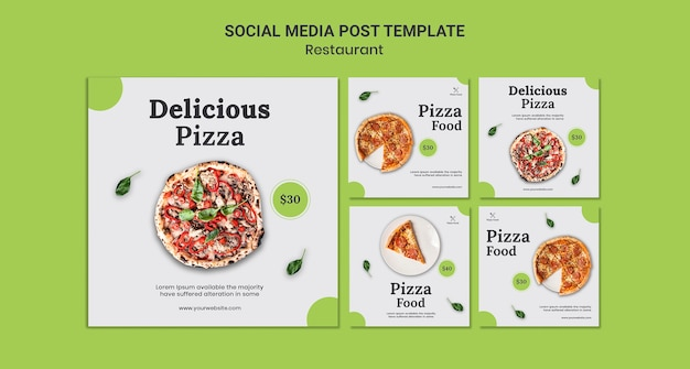 Pizza restaurant social media post vorlage Kostenlosen PSD
