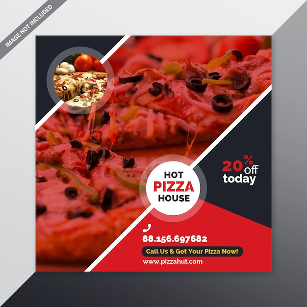Pizza-social-media-banner Premium PSD
