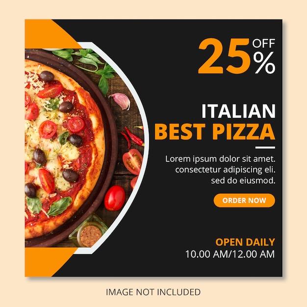 Pizza social media beitrag Premium PSD
