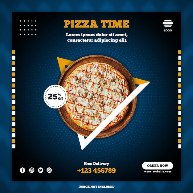 Pizza social media post banner vorlagen Premium PSD