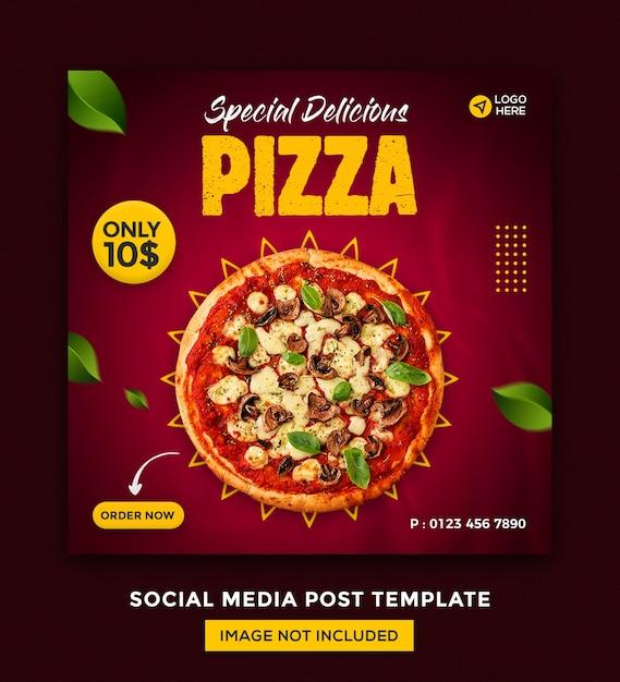Pizza social media und instagram post desgin vorlage Premium PSD