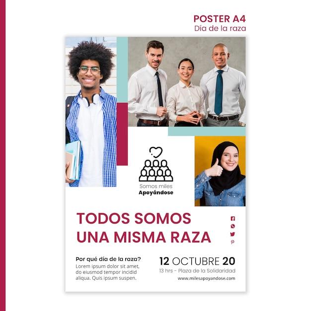 Plakat für columbus-tagesfeier Kostenlosen PSD