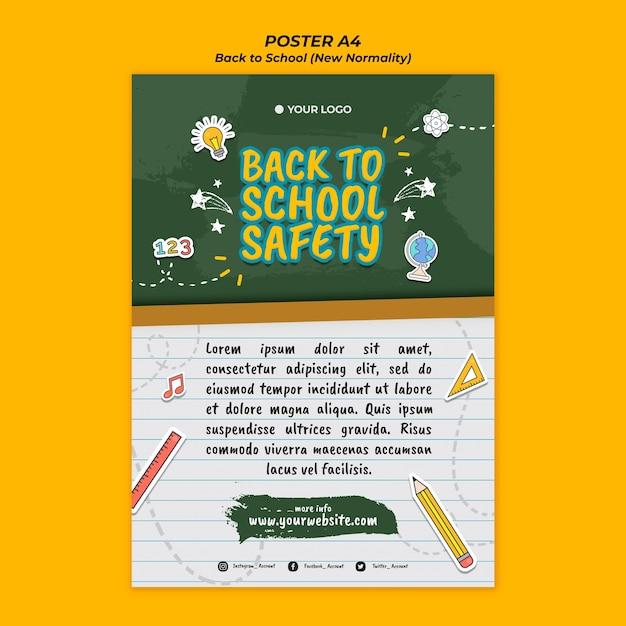 Plakat für den schulanfang Kostenlosen PSD