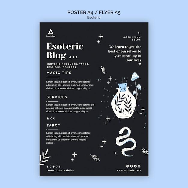 Plakat für esoterischen blog Kostenlosen PSD