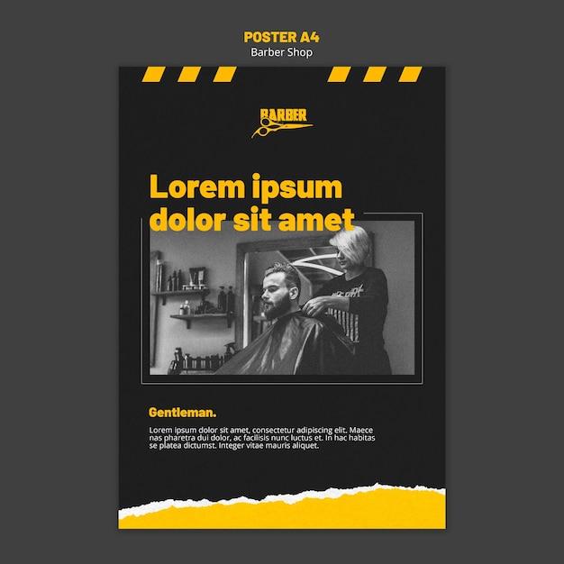 Plakat für friseurgeschäft Kostenlosen PSD