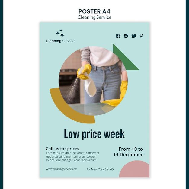 Plakat für hausreinigungsunternehmen Kostenlosen PSD