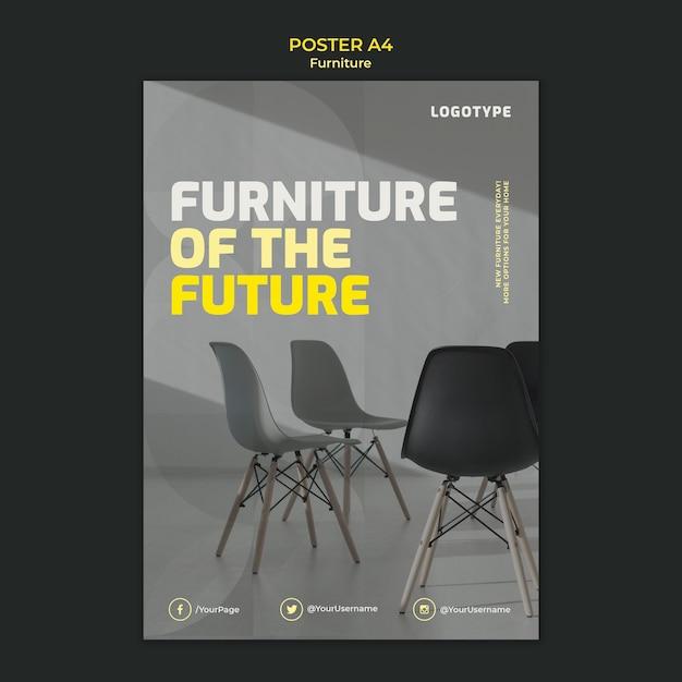 Plakat für innenarchitekturfirma Kostenlosen PSD