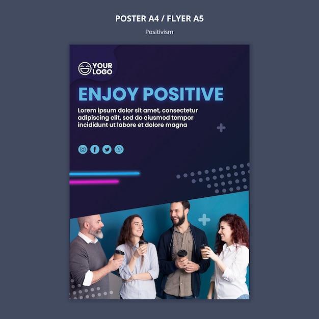 Plakat für optimismus und positivismus Kostenlosen PSD