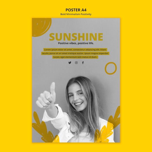 Plakat für positivismus Kostenlosen PSD