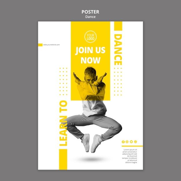 Plakat für tanzstunden Kostenlosen PSD
