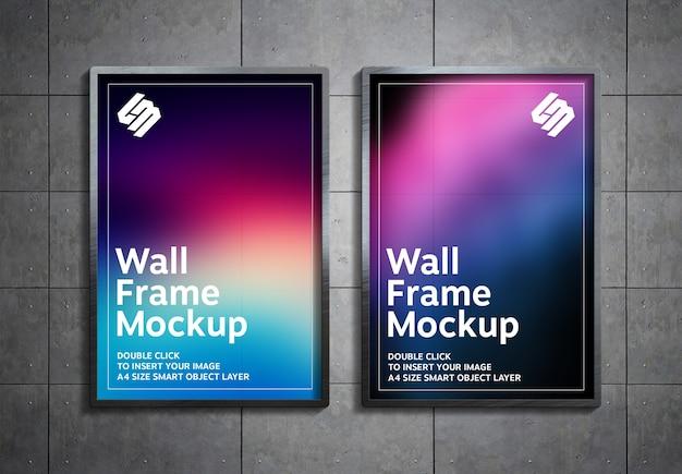 Plakat hängen an metallpaneelen wandmodell Premium PSD
