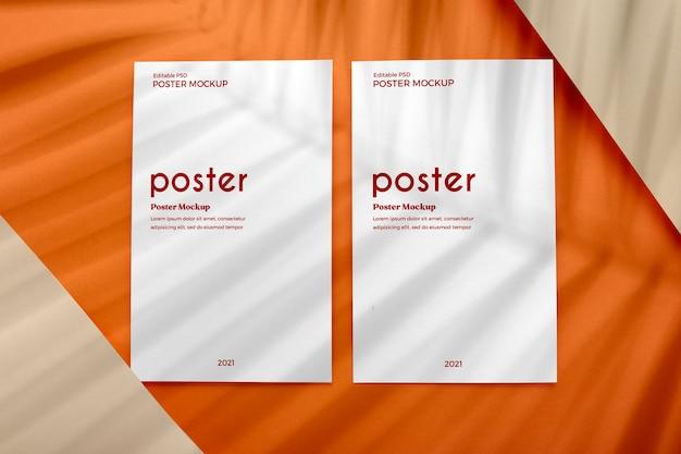 Plakatschablone auf erdfarbenhintergrund Kostenlosen PSD