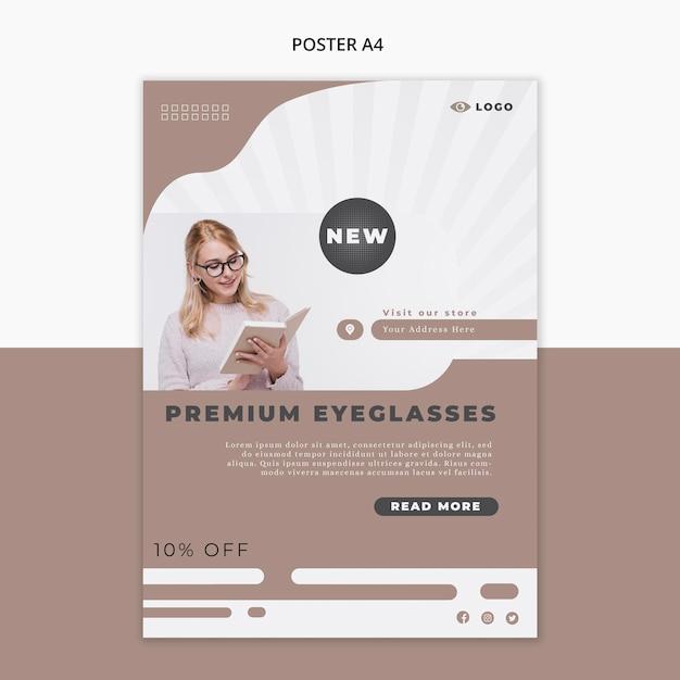 Plakatschablone für brillenfirma Kostenlosen PSD