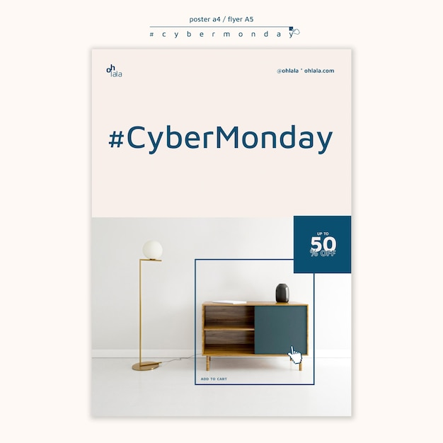 Plakatschablone für cyber-montag-einkauf Kostenlosen PSD