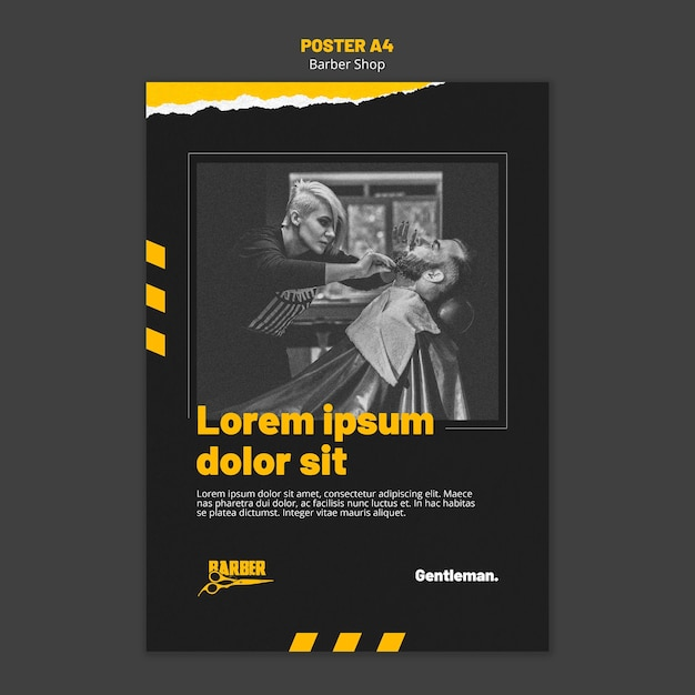 Plakatschablone für friseurgeschäft Kostenlosen PSD
