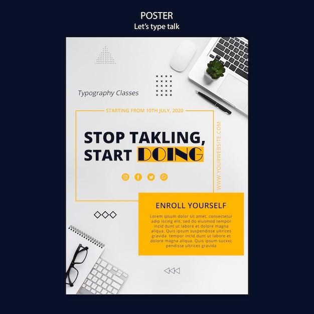 Plakatvorlage für arbeitsproduktivität Kostenlosen PSD
