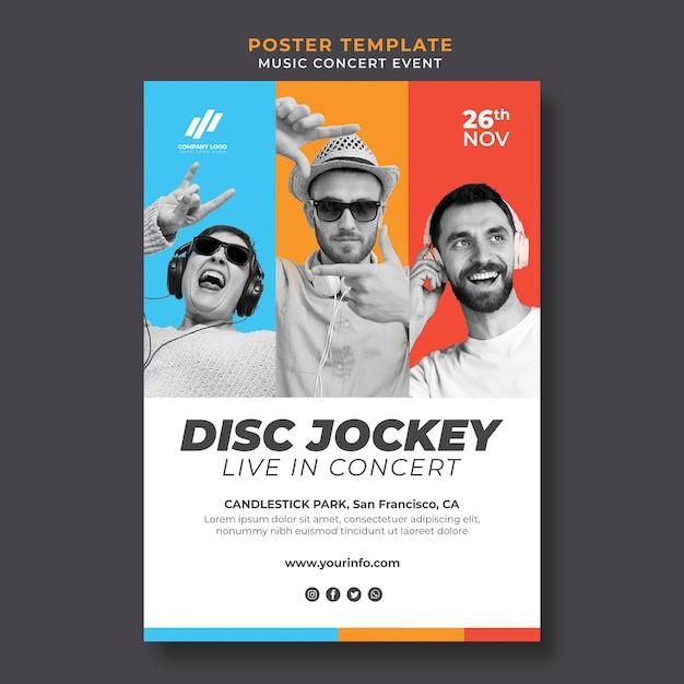 Plakatvorlage für live-konzert Kostenlosen PSD