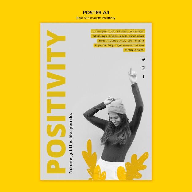 Plakatvorlage für positivismus Kostenlosen PSD