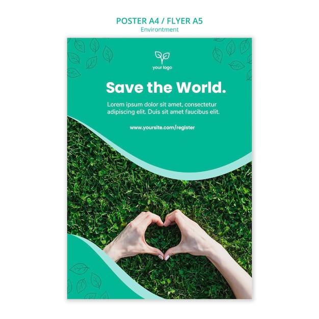 Plakatvorlage mit tag der umwelt Kostenlosen PSD