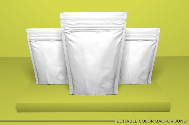 Plastiknahrungsmittelbeutelmodell Premium PSD