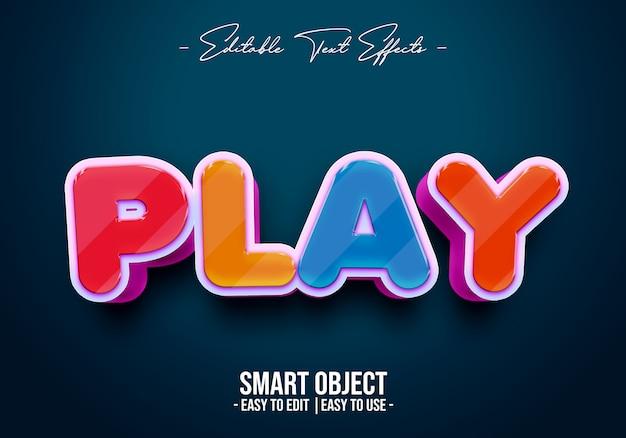 Play-text-style-effekt Premium PSD