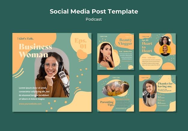 Podcast-beiträge in sozialen medien Kostenlosen PSD