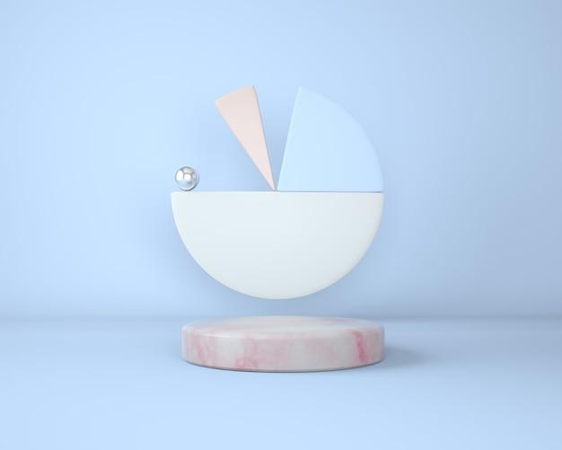 Podium für branding und marmorsockel mit geometrischen formen Premium PSD