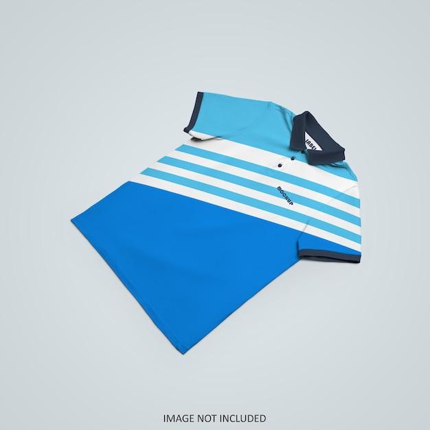 Polo t-shirt mockup design isoliert Premium PSD