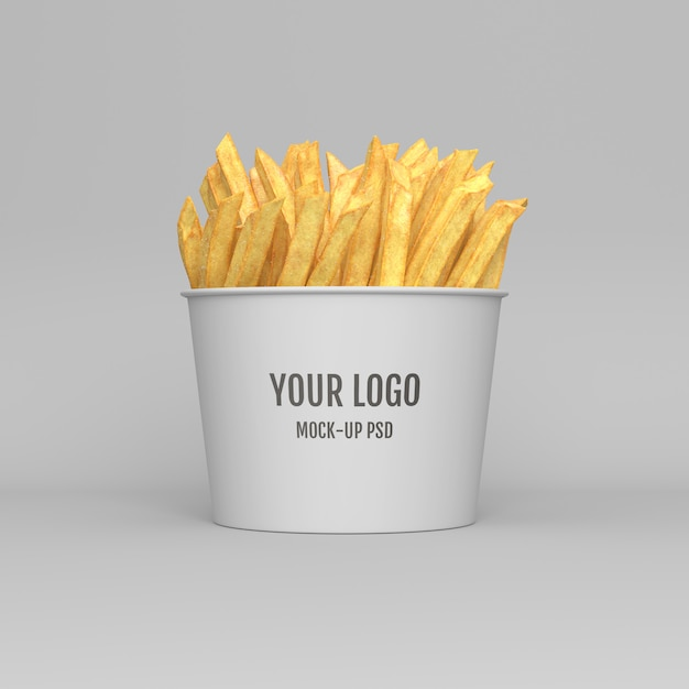 Pommes-frites-verpackungsmodell Premium PSD
